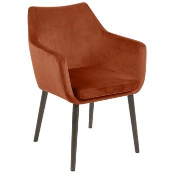 Krzesło Elgar 58x84 cm miedziane nogi ciemnobrązowe