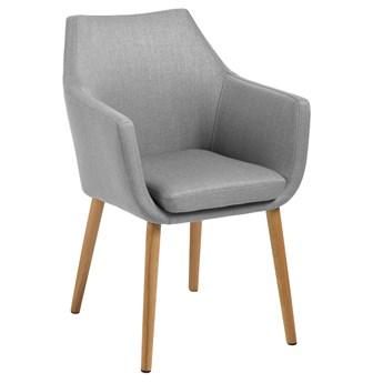 Krzesło Elgar 58x84 cm szare tkanina nogi drewniane
