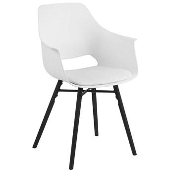 Krzesło Ramona 57x85 cm białe nogi czarne