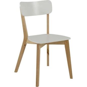 Krzesło Fabrizio 40x79 cm białe nogi drewniane