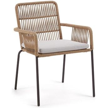 Krzesło Samt 56x85 cm beżowe