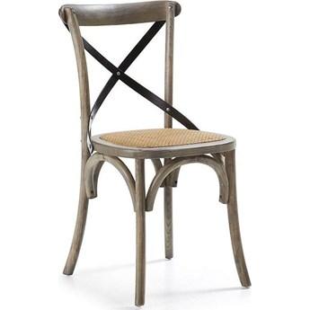 Krzesło Silea 50x88 cm drewniane ciemne
