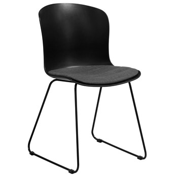 Krzesło Gallamore 47x81 cm czarne siedzisko szare
