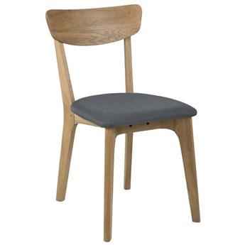 Krzesło Faye 45x84 cm drewniane siedzisko tkanina