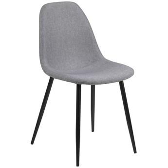 Krzesło Eusebio 45x84 cm jasnoszare