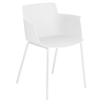 Krzesło z podłokietnikami Hannia 59x77 cm białe
