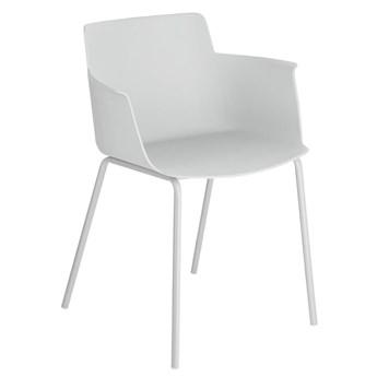 Krzesło z podłokietnikami Hannia 59x77 cm szare