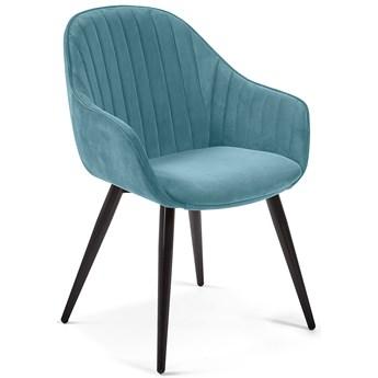 Krzesło z podłokietnikami Herbert 58x84 cm turkusowe