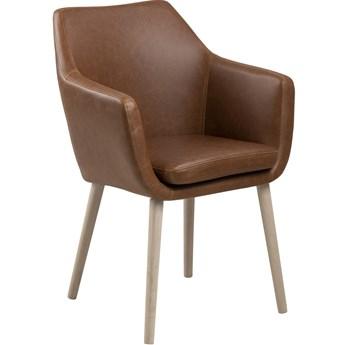Krzesło z podłokietnikami Elgar 58x84 cm brązowe