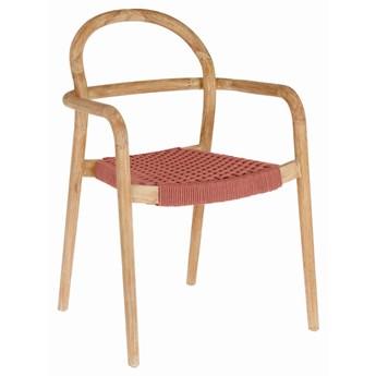 Krzesło Sheryl 57x83 cm kolor terakota