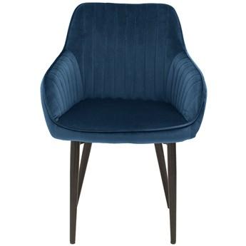 Krzesło z podłokietnikami Clyburn 60x84 cm chabrowe
