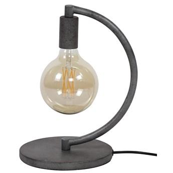 Lampa stołowa Chop 1L 20x33 cm srebrna postarzana