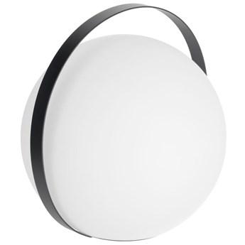 Lampa stołowa Dinesh Ø30 cm biało-czarna