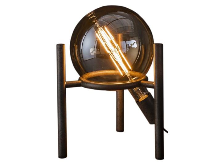 Lampa stołowa Saturn 28x34 cm srebrna Kolor Czarny