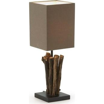 Lampa stolowa Antares z czerwonego drewna i kauczuku