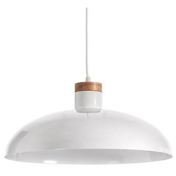 Lampa sufitowa Gotram stalowa z bialym wykonczeniem