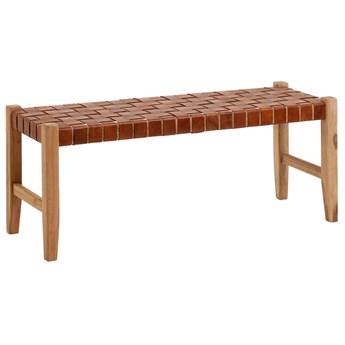 Lawka Calixta z litego drewna tekowego 120 cm