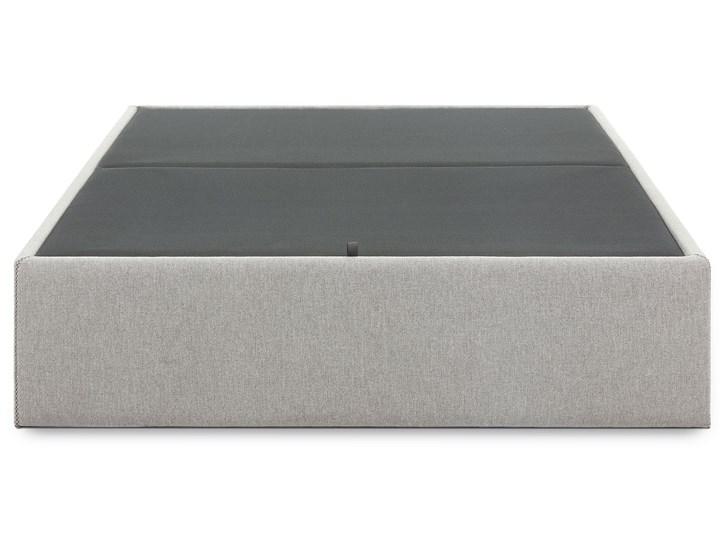 Łóżko Matters 160x200 cm szare Tkanina Styl Nowoczesny Drewno Łóżko tapicerowane Pojemnik na pościel Z pojemnikiem