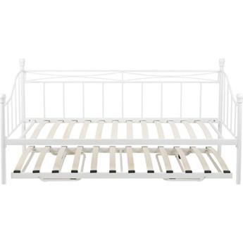Łóżko Floriano 200 cm biało-naturalne