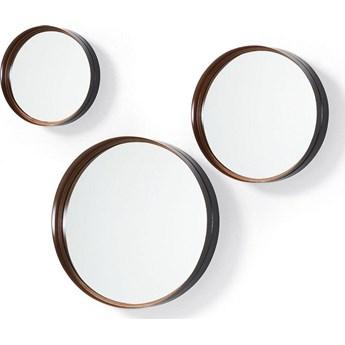 Zestaw Ralphe 3 stalowych luster Ø 51 cm / Ø 41 cm / Ø 30 cm