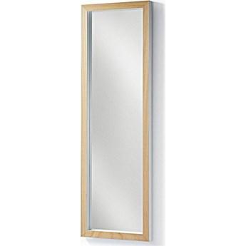 Lustro Enzo z litego drewna ayous 48 x 148 cm białe
