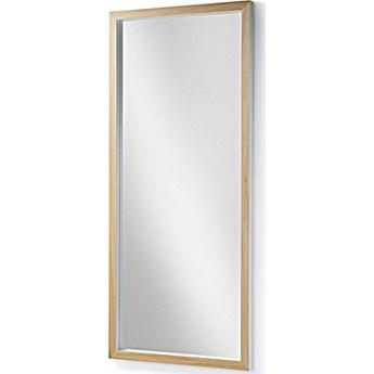 Lustro Enzo z litego drewna ayous 78 x 178 cm białe