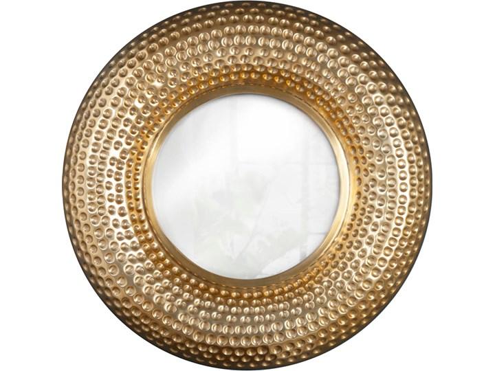 Lustro Orient Ø60 cm złote Okrągłe Kategoria Lustra Ścienne Lustro z ramą Pomieszczenie Salon