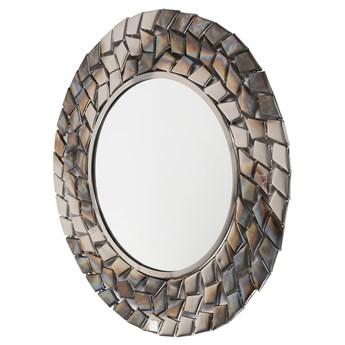 Lustro wiszące Pebble ∅65 cm srebrne