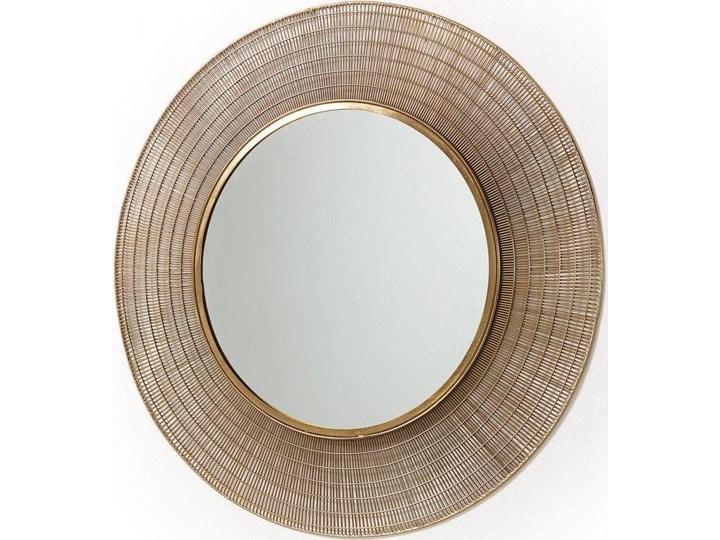 Lustro wiszące Plax ∅80 cm mosiężne Lustro z ramą Okrągłe Ścienne Pomieszczenie Salon