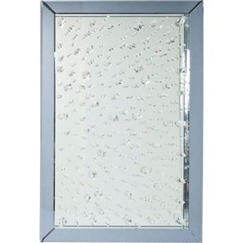 Lustro wiszące Raindrops 120x80 cm szare