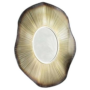 Lustro wiszące Sezetto Wave 80x80 cm złote