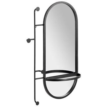 Lustro z wieszakami Zada stal czarna 52 x 82 cm