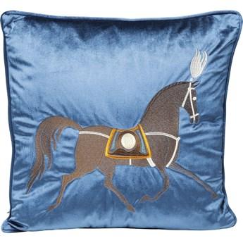 Poduszka dekoracyjna Classy Horse 45x45 cm niebieska