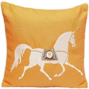Poduszka dekoracyjna Classy Horse 45x45 cm pomarańczowa
