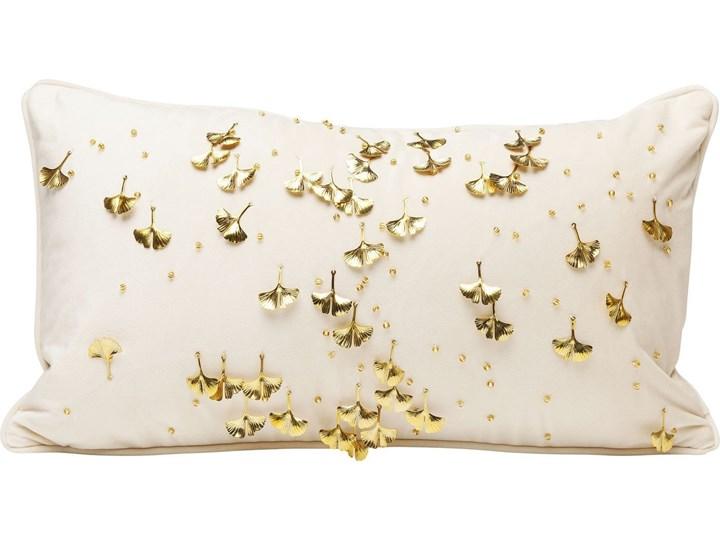 Poduszka dekoracyjna Ginkgo 50x28 cm beżowa 28x50 cm Pomieszczenie Salon Poszewka dekoracyjna Prostokątne Poliester Kolor Biały
