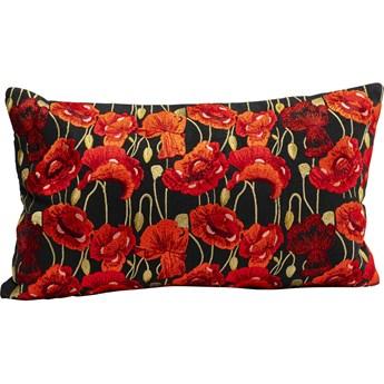 Poduszka dekoracyjna Poppy Black 50x30 cm