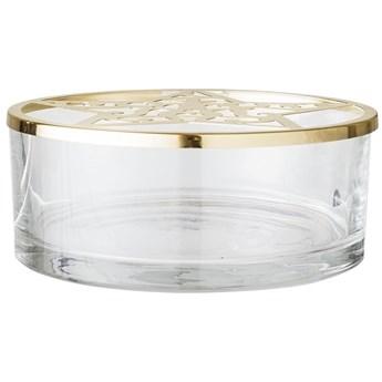 Pojemnik Golden Star Ø21x8 cm transparentno-złoty