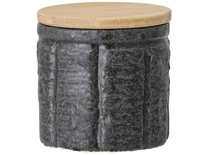 Pojemnik z pokrywką Cliff 150 ml czarny Drewno Ceramika Żaroodporny Kategoria Pojemniki i puszki