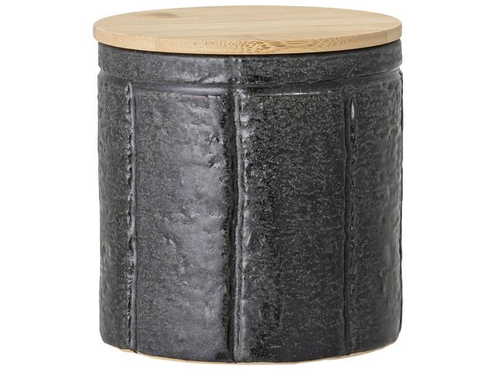 Pojemnik z pokrywką Cliff 600 ml czarny Żaroodporny Drewno Typ Pojemniki Ceramika Kategoria Pojemniki i puszki