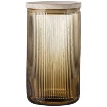 Pojemnik z pokrywką Mellanie Ø12x22 cm brązowy transparentny
