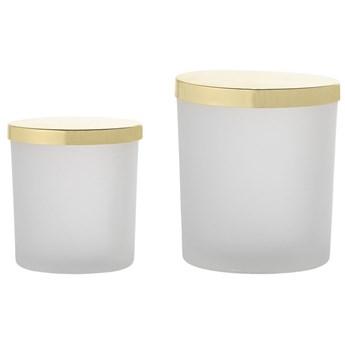 Pojemniki z pokrywką Gild (2-set) białe