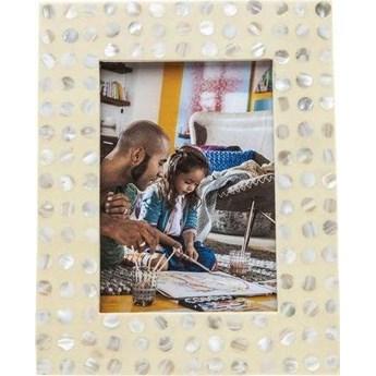 Ramka Perla Dots 17x22 cm perłowa