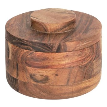 Pojemnik Castalia wykonany z litego drewna akacjowego