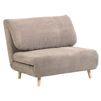 Sofa 1-os. Keren rozkładana 106 cm jasnoszara