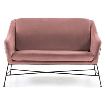 Sofa Brida 128x82 cm jasnoróżowa