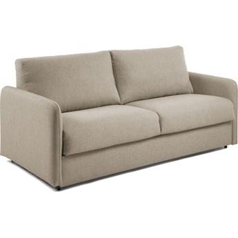 Sofa rozkładana Komoon 202x95 cm beżowa z pianką termoelastyczną