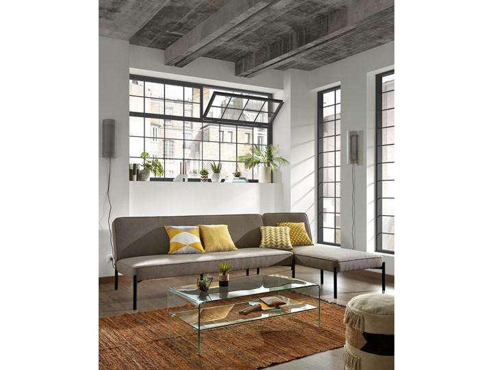 Rozkladana sofa i szezlong Nelki w kolorze szarym Stała konstrukcja Typ Gładkie