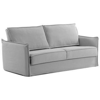 Sofa rozkładana Samsa 182x92 cm szara pianka poliuretanowa