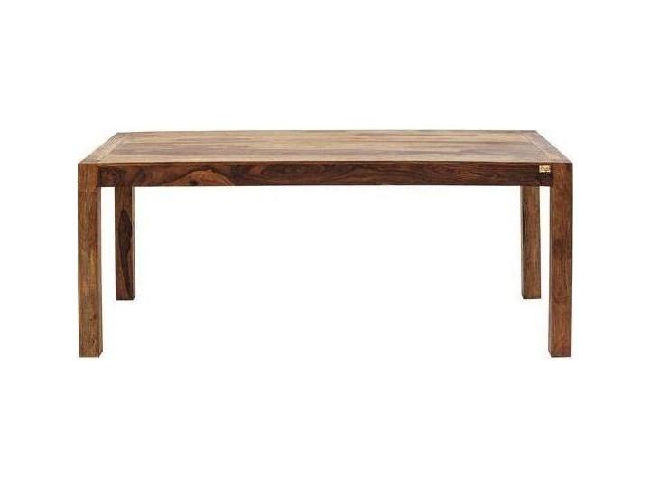 Stół Authentico 160x80 cm brązowy Wysokość 75 cm Drewno Długość 160 cm  Rozkładanie Szerokość 160 cm Styl Industrialny