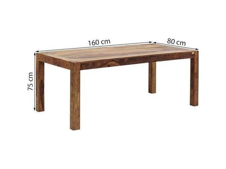 Stół Authentico 160x80 cm brązowy Drewno Wysokość 75 cm Długość 160 cm  Szerokość 160 cm Rozkładanie